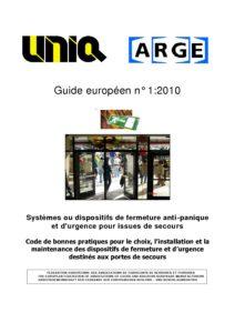 Guide ARGE n°1 Fermetures issues de Secours Juin 2011