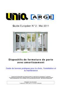 Guide ARGE n°2 Fermeture de porte avec amortissement
