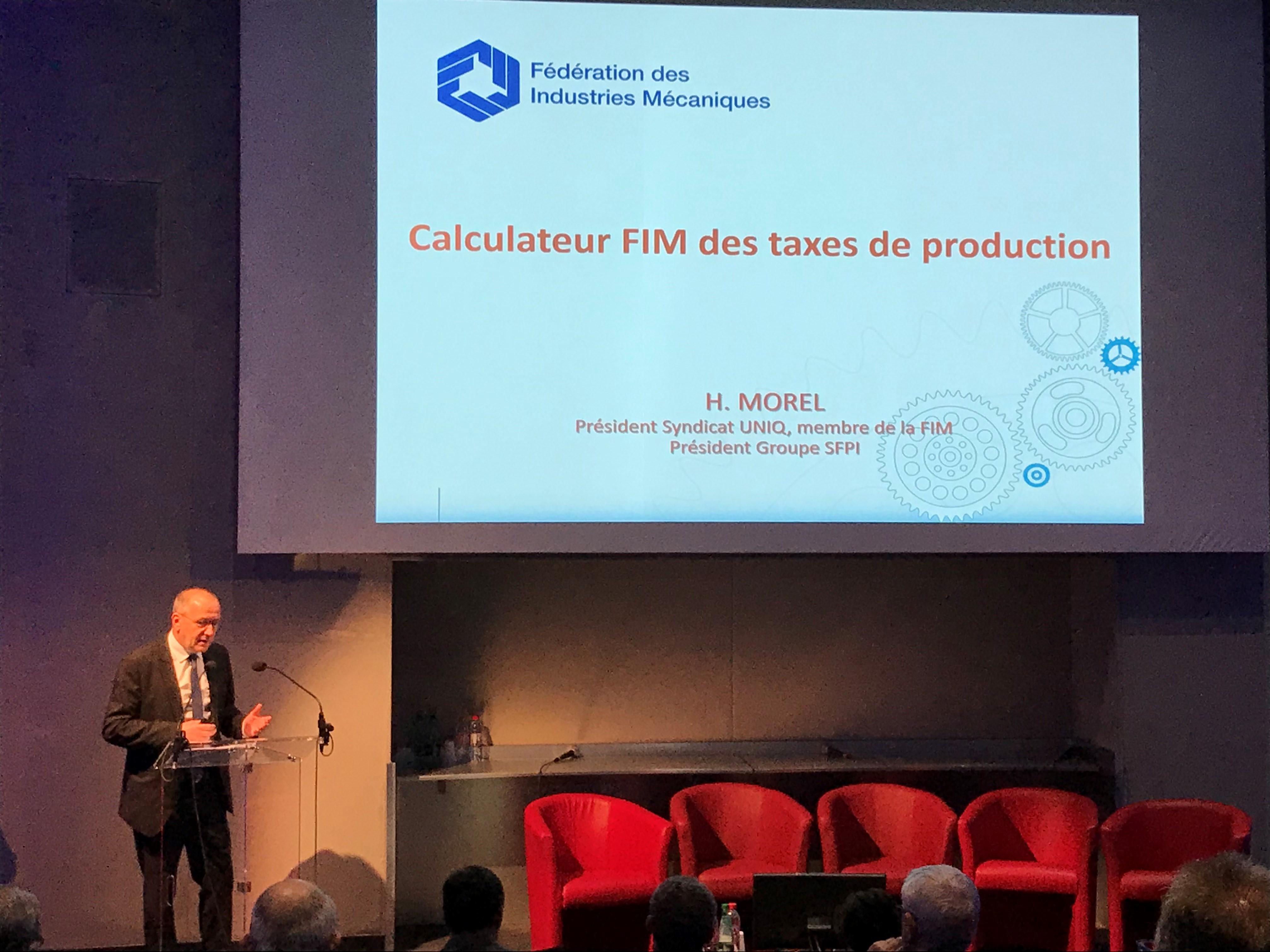Henri MOREL et la FIM pour une réforme des taxes de production